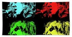 Hippie Memories Pop Art Beach Sheet