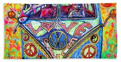 Hippie Beach Towel by Viktor Lazarev