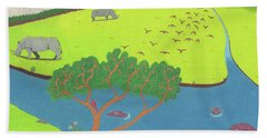 Hippo Awareness Beach Towel