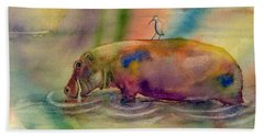 Hippy Dippy Beach Towel by Amy Kirkpatrick