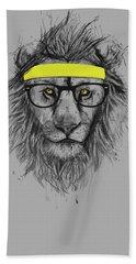 Hipster Lion Beach Towel