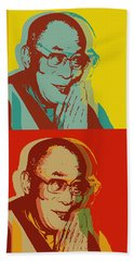 His Holiness The Dalai Lama Of Tibet Beach Sheet