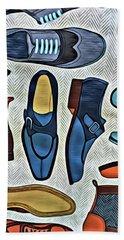His Shoes Beach Sheet