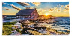 Historic Anderson Dock In Ephraim Door County Beach Towel by Christopher Arndt