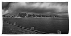 Historic Anna Maria City Pier In Infrared Beach Towel