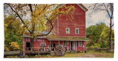 Beach Towel featuring the photograph Historic Bowens Mills by Susan Rissi Tregoning