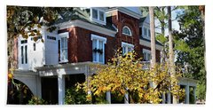 Beach Towel featuring the photograph Historic Brunswick Residence by Laura Ragland