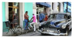 Historic Camaguey Cuba Prints The Cars 2 Beach Towel