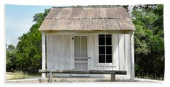 Beach Sheet featuring the photograph Historic Clint's Cabin by Ray Shrewsberry