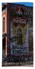Historic Coca Cola Brick Ad - Fort Collins - Colorado Beach Sheet by Gary Whitton