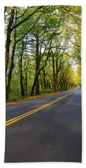 Historic Columbia River Highway In Fall Beach Towel