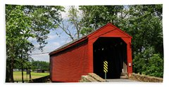 Historic Loys Station Covered Bridge Maryland Beach Towel