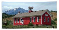 Historic Maysville School In Colorado Beach Sheet by Catherine Sherman