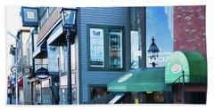 Historic Newport Buildings Beach Sheet by Nancy De Flon
