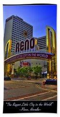 Historic Reno Sign Beach Towel