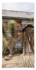Historic Route 66 - Outhouse 1 Beach Towel