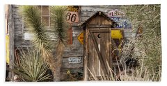 Historic Route 66 - Outhouse 2 Beach Towel
