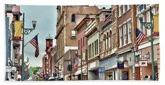Beach Towel featuring the photograph Historic Staunton Virginia - Art Of The Small Town  by Kerri Farley