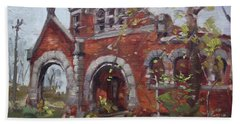 Historic Union Street Train Station In Lockport Beach Towel