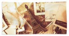 History And Sentiment Of Vintage Paris Beach Towel