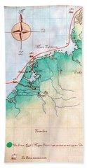 Magna Frisia- Frisian Kingdom Beach Sheet by Annemeet Hasidi- van der Leij