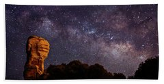 Hitchcock Pinnacle Nightscape -- Milky Way Beach Towel