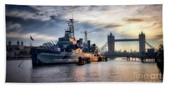 Hms Belfast Beach Towel
