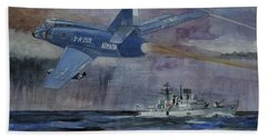 Hms Sheffield Beach Towel