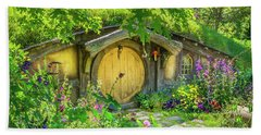 Hobbit Cottage Beach Towel