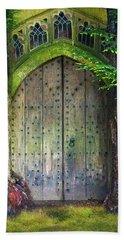 Hobbit Door Beach Sheet