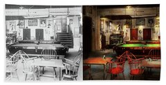 Beach Sheet featuring the photograph Hobby - Pool - The Billiards Club 1915 - Side By Side by Mike Savad