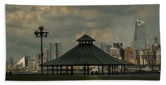 Hoboken, Nj -pier A Park Gazebo Beach Towel