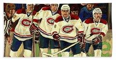 Hockey Art The Habs Fab Four Beach Towel