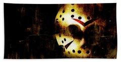 Hockey Mask Horror Beach Sheet by Jorgo Photography - Wall Art Gallery