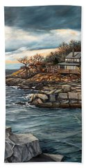 Hodgkins Cove Gloucester Ma Beach Towel