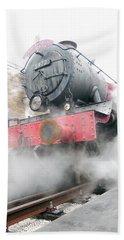 Beach Sheet featuring the photograph Hogwarts Express Train by Juergen Weiss
