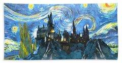 Harry Potter Starry Night Beach Towel