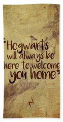 Hogwarts Is Home Beach Towel