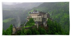 Hohenwerfen Castle Beach Towel by Sheila Ping