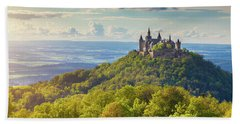 Hohenzollern Castle Sunset Beach Towel by JR Photography