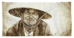 Beach Sheet featuring the photograph Hoi An Gent by Cameron Wood