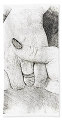 Holding Hands  Beach Towel by Betty Pauwels