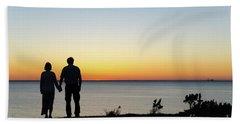 Beach Towel featuring the photograph Holding Hands By  Sunset  by Kennerth and Birgitta Kullman