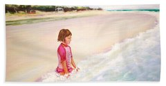 Beach Sheet featuring the painting Holding The Ocean by Patricia Piffath