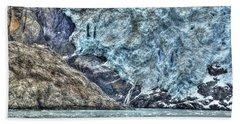 Holgate Glacier Hdr Beach Towel