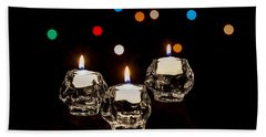 Holiday Candles Beach Towel
