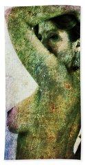 Beach Towel featuring the digital art Holly 2 by Mark Baranowski