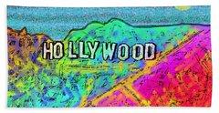 Hollycolorwood Beach Towel by Jeremy Aiyadurai
