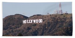 Hollywood And Helicopters Beach Towel