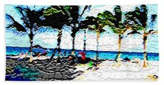 Hollywood Beach Fla Digital Beach Towel